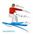 freestyle skier jumps vector image