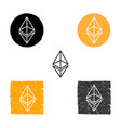 ethereum - symbol of digital crypto vector image