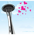 Famous Space Needle an observation tower of vector image