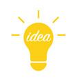 light bulb and idea concept vector image