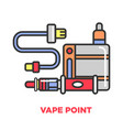 vape point shop promotional poster with modern vector image