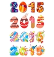 Childrens party 2015 numbers vector image