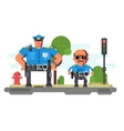 Police companions characters vector image