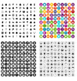 100 dress icons set variant vector image vector image