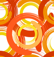 Abstract seamless texture with color circles vector image vector image