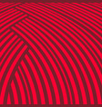 abstract striped background red curve pattern vector image vector image