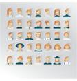 avatar female blond hair human faces social vector image vector image