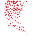 beautiful hearts background vector image