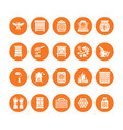 beekeeping apiculture flat glyph icons equipment vector image vector image