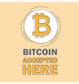bitcoin concept cryptocurrency logo sigh digital vector image vector image