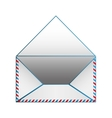 Blank paper envelopes opened with blue outline vector image vector image