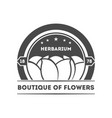 boutique of flowers isolated identity label vector image vector image