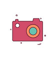 cam pic picture photo icon design vector image vector image