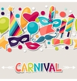 Celebration seamless pattern with carnival vector image vector image