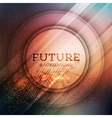 Circular futuristic background vector image vector image