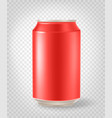 classic aluminium can layered mockup isolated on vector image