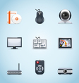 computer peripherals icons vector image vector image