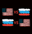 conflict between usa and russia vector image