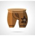 Cycling shorts flat color icon vector image vector image