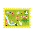 decorative postcard with symbols south america vector image