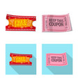 design of ticket and admission logo set of vector image vector image