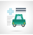 Driver medical insurance flat color icon vector image vector image