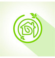 Eco home icon with leaf vector image vector image