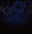 firework sparkle background card vector image vector image