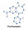 Flunitrazepam intermediate benzodiazepine vector image vector image