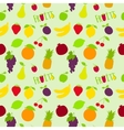 Fresh fruits flat seamless pattern vector image vector image