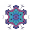Geometric snowflake with lines and circles vector image vector image