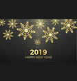 golden snowflakes and greeting text isolated on vector image vector image