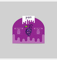 grape sticker and eco products grape web element vector image