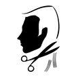 hair cutting symbol vector image vector image