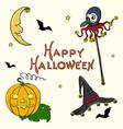 Halloween set2 vector image