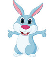 happy rabbit cartoon vector image vector image