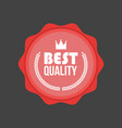 high quality flat badge round label vector image vector image