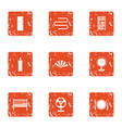 home cuisine icons set grunge style vector image vector image