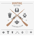 Hunting logo and badge template Equipment Flat vector image vector image