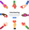 international volunteering flat webpage vector image vector image