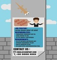 Job Finder Poster on Electricity Post vector image vector image