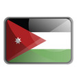 jordan flag on white background vector image vector image