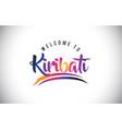 kiribati welcome to message in purple vibrant vector image vector image