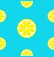 lemon fruit icon set yellow slice cut half vector image vector image