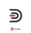 letter d logo design template vector image vector image