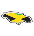 map of jamaica with its flag vector image vector image