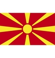 Mazedonien flag image vector image vector image