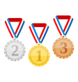 Medals vector image vector image