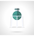 Medical labware flat color design icon vector image vector image
