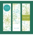 mysterious green garden vertical banners vector image vector image